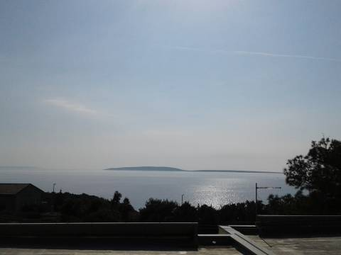Vista dal terrazzo della casa